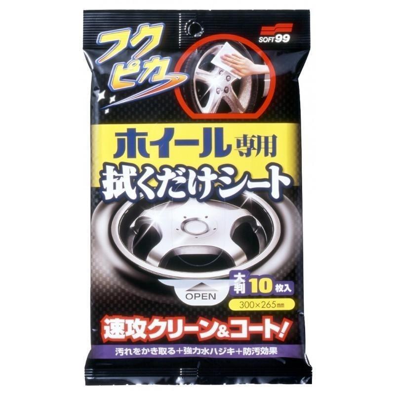 Soft99 Wheel Cleaning Wipe 10szt. (Czyszczenie felg) - GRUBYGARAGE - Sklep Tuningowy
